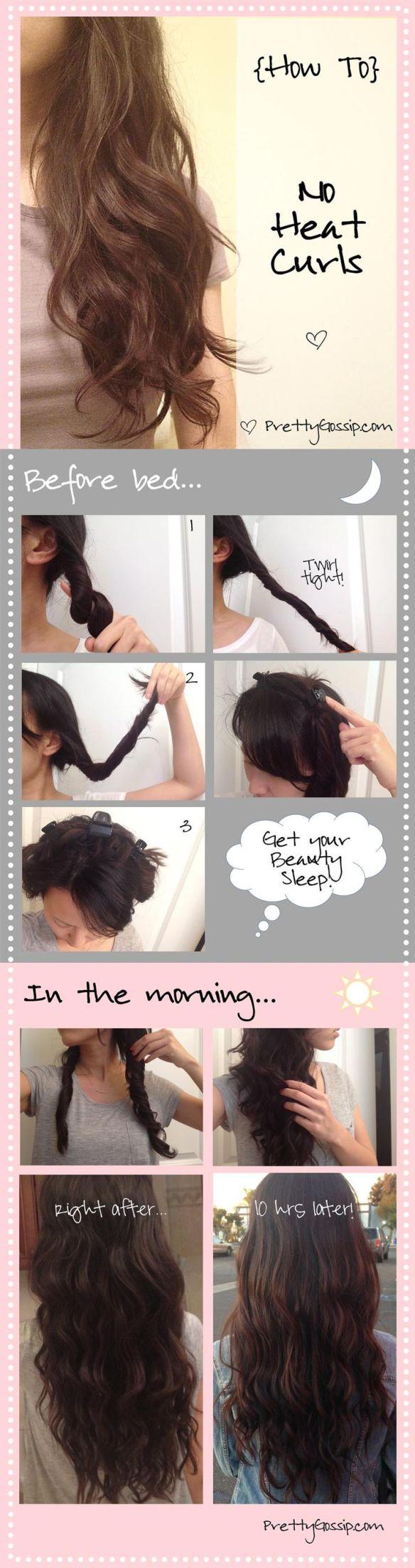 locka håret utan värme1